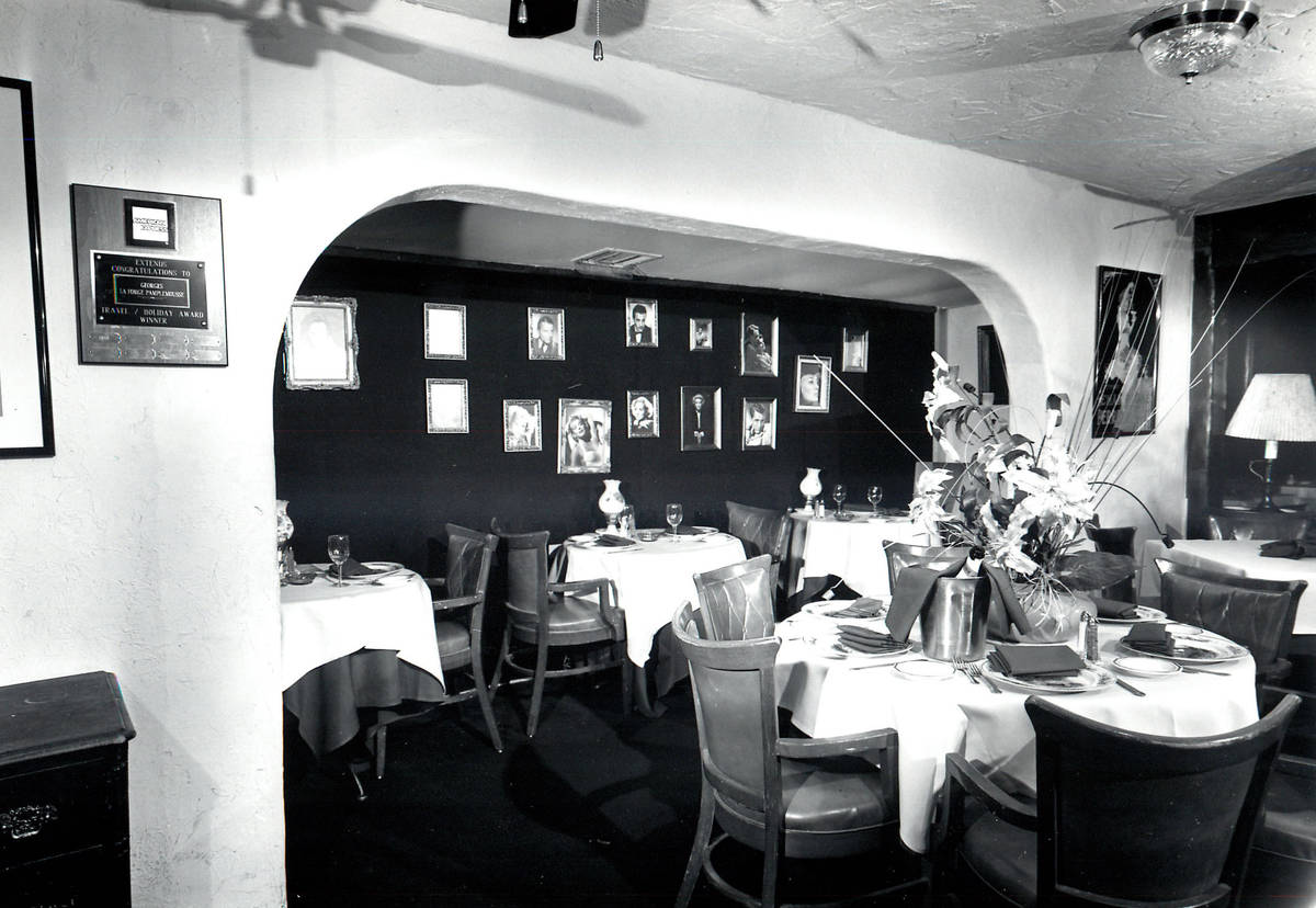 Pamplemousse restaurant pictured in 1986. (Review-Journal file)