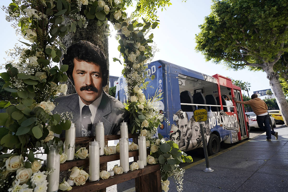 """A shrine to the late """"Jeopardy"""" quiz show host Alex Trebek is pictured near his star ..."""