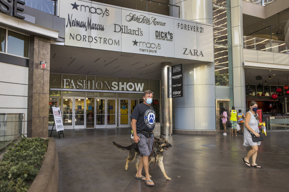 Shoppers are coming back to the Las Vegas Strip including Fashion Show Mall on Thursday, Oct. 2 ...