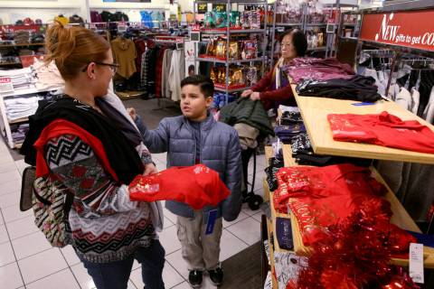 Jennifer Salinas and her son John Salinas shop at Kohl's at 8671 W. Charleston Blvd. in Las Veg ...