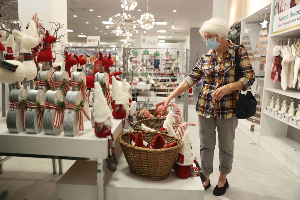 Carolyn Ratliff of Las Vegas browses the Christmas decorations at J. C. Penney, 4485 S Grand Ca ...