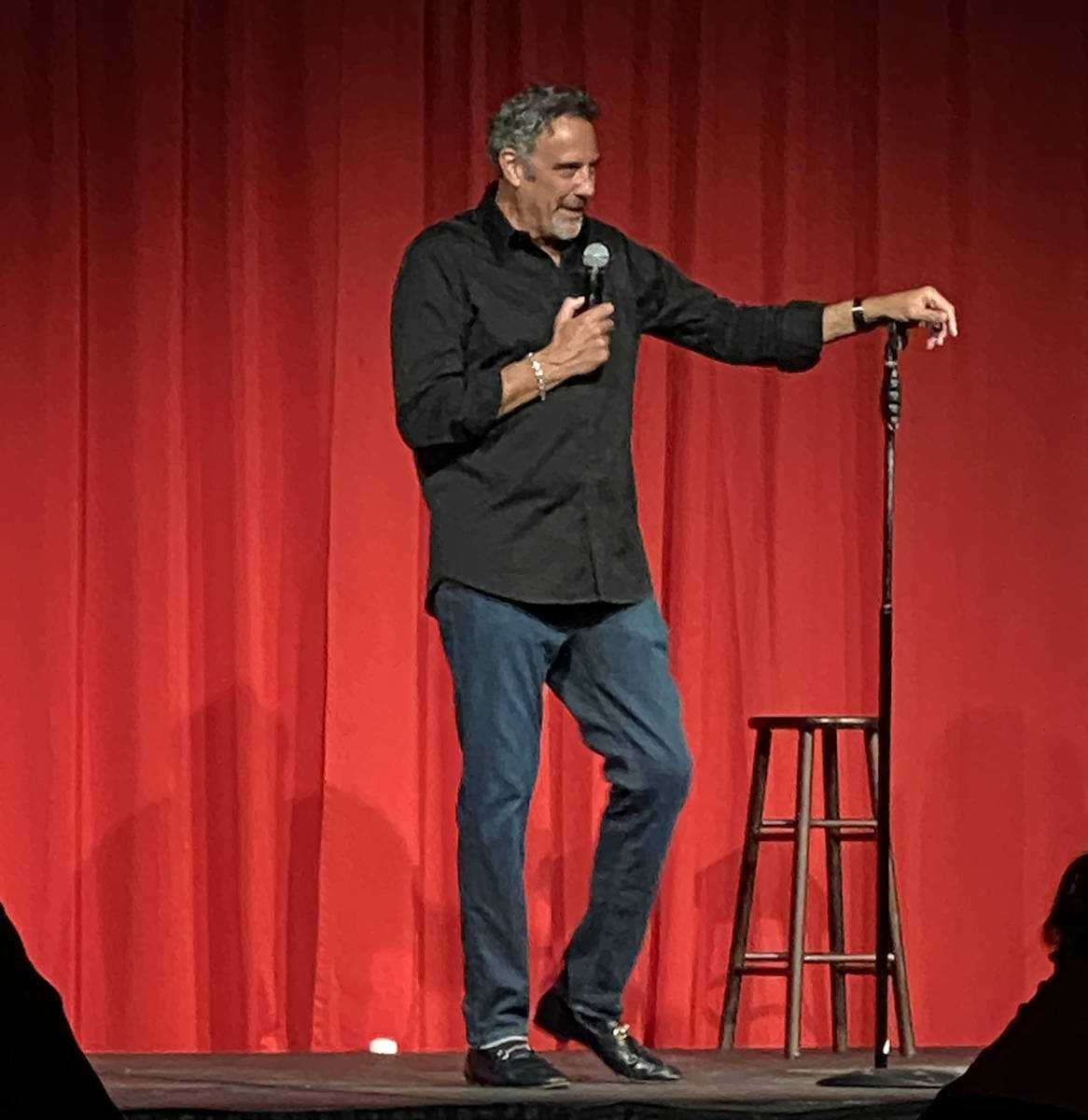 Brad Garrett is shown at the reopening of his Brad Garrett's Comedy Club at Studio A & B at MGM ...