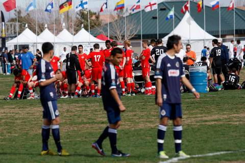 Multiple teams participate in the Mayor's Cup International Showcase soccer tournament at the B ...