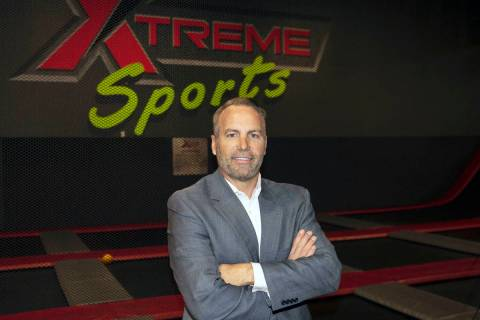 Nelson Tressler, owner of FlipNOut Extreme, poses for a photo on Nov. 18, 2020, in Las Vegas. T ...