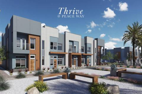 Edward Homes Nevada has introduced its newest collection of town homes, Thrive. (Edward Homes N ...