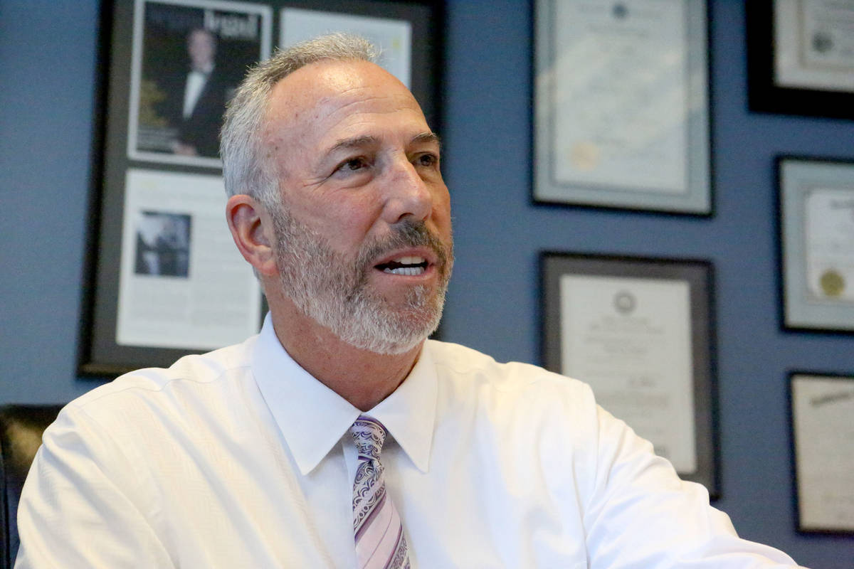 Clark County District Attorney Steve Wolfson, duing an interview in his office on May 6, 2019. ...