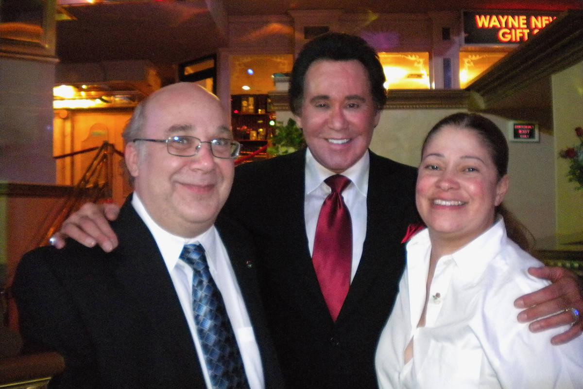 """Alan Stamm, Wayne Newton and Tracey Davis are shown at the opening night of Newton's """"Once Befo ..."""