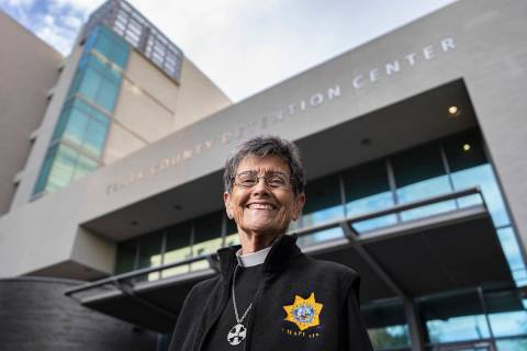 Bonnie Polley has been the chaplain at the Clark County Detention Center for nearly 40 years. P ...