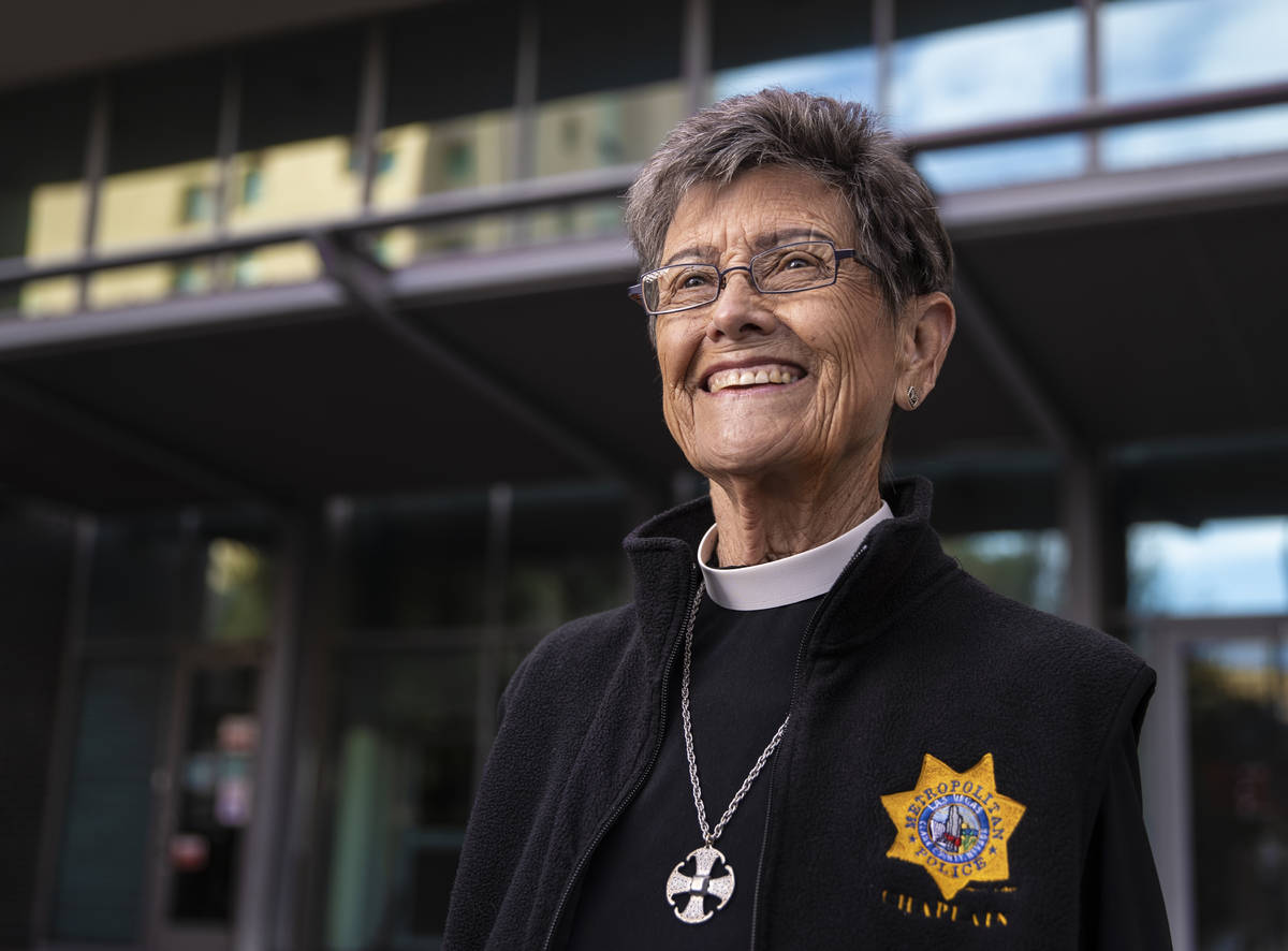 The Rev. Bonnie Polley at the Clark County Detention Center, where she has been the chaplain fo ...