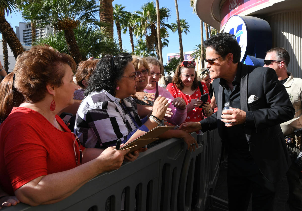 Donny Osmond chats with fans after receiving a star on the Las Vegas Walk of Stars on Friday, O ...