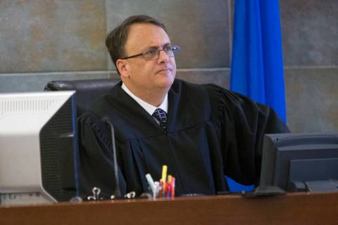 District Judge Richard Scotti, seen in 2017. (Erik Verduzco Las Vegas Review-Journal)