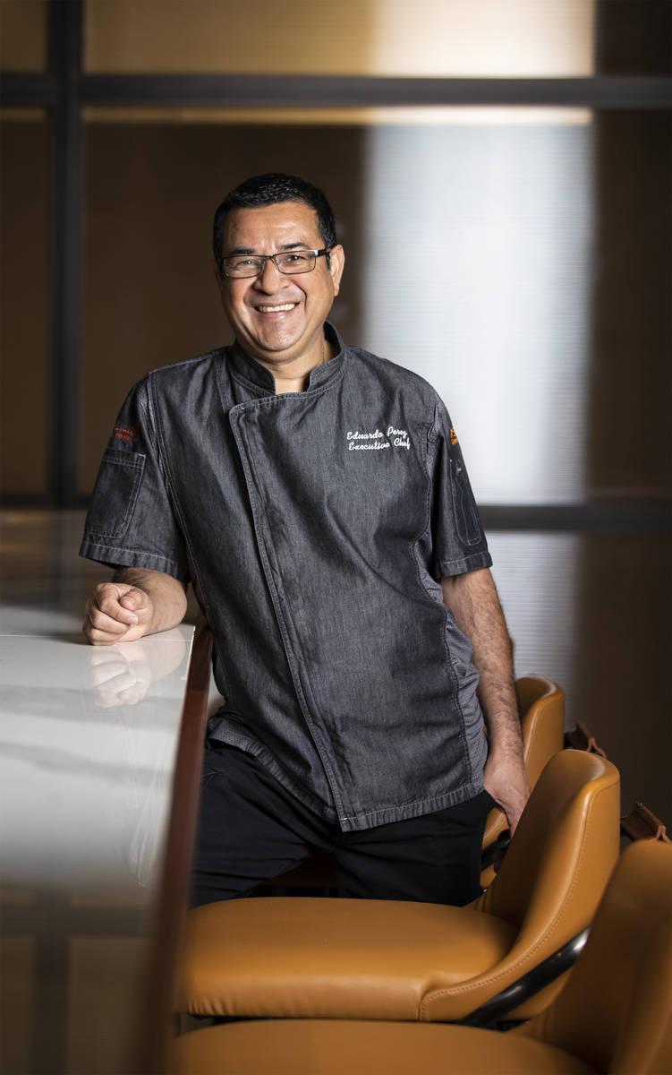 Chef Eduardo Perez at Matteo's Ristorante Italiano on Wednesday, Nov. 11, 2020, at The Venetian ...