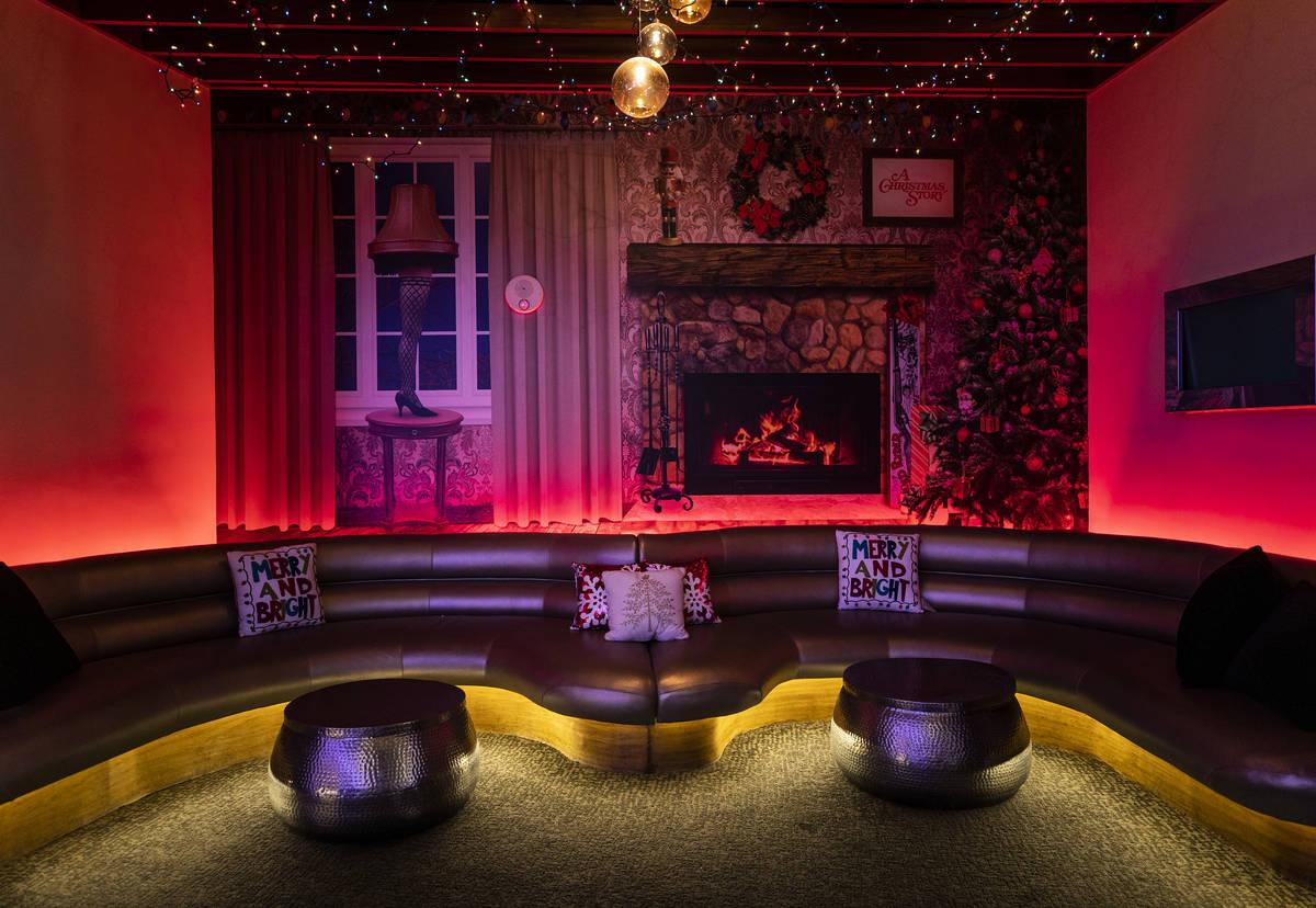 Red Rock Resort's Christmas-themed popup bar Merry Crimson on Monday, Nov. 23, 2020, in Las Veg ...