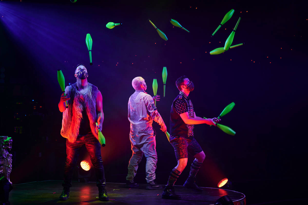"""Water On Mars"" is shown during the return of ""Absinthe"" at Caesars Palace on Wednesday, Oct. 2 ..."