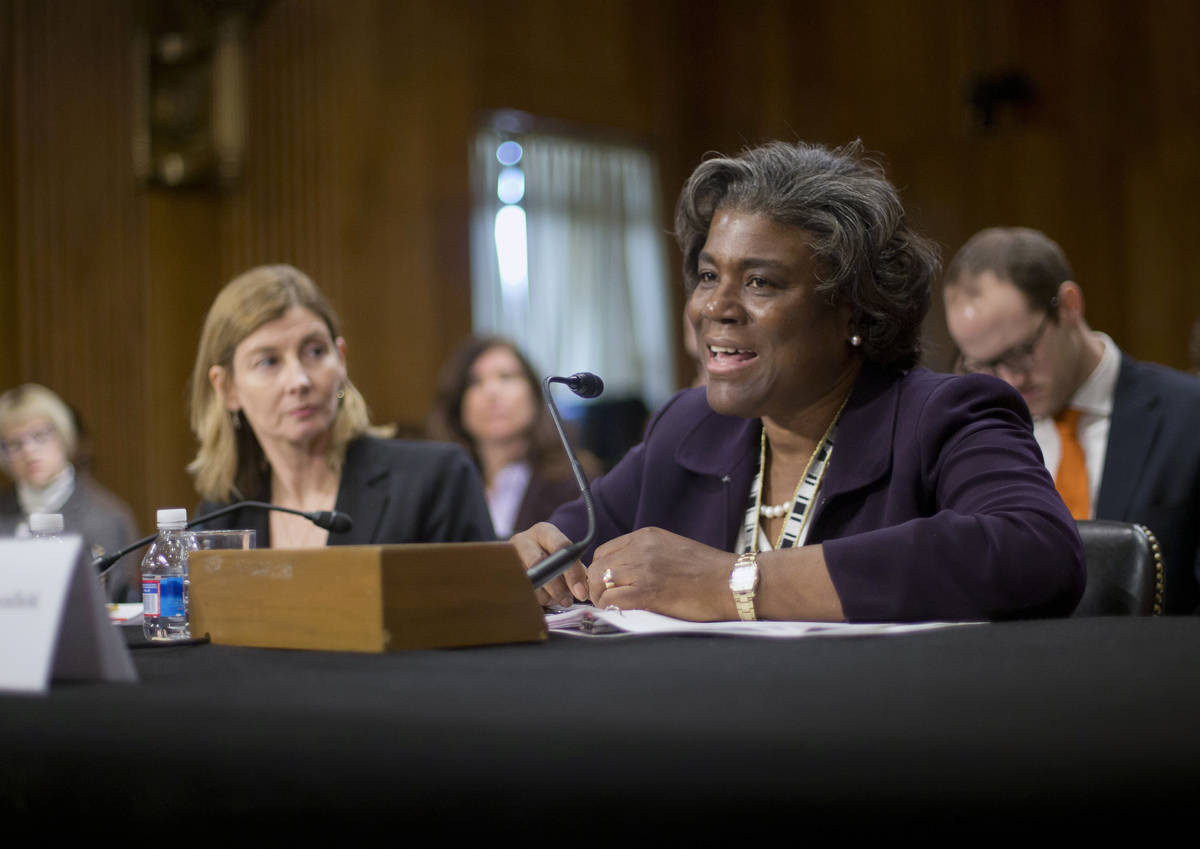 FILE - In this Jan. 9, 2014, file photo Assistant Secretary of State for African Affairs Linda ...