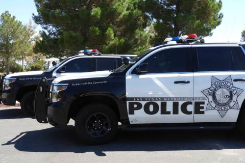 Las Vegas Metropolitan Police vehicles. (Las Vegas Review-Journal)