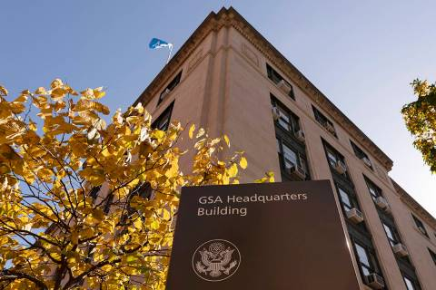 The General Services Administration (GSA) building is seen, Tuesday, Nov. 10, 2020, in Washingt ...