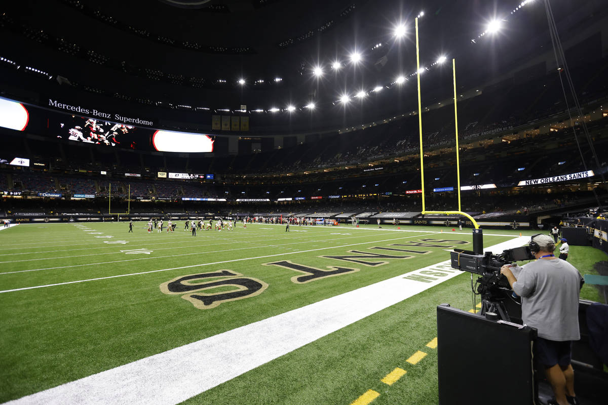 A general view during an NFL football game between the New Orleans Saints and the San Francisco ...