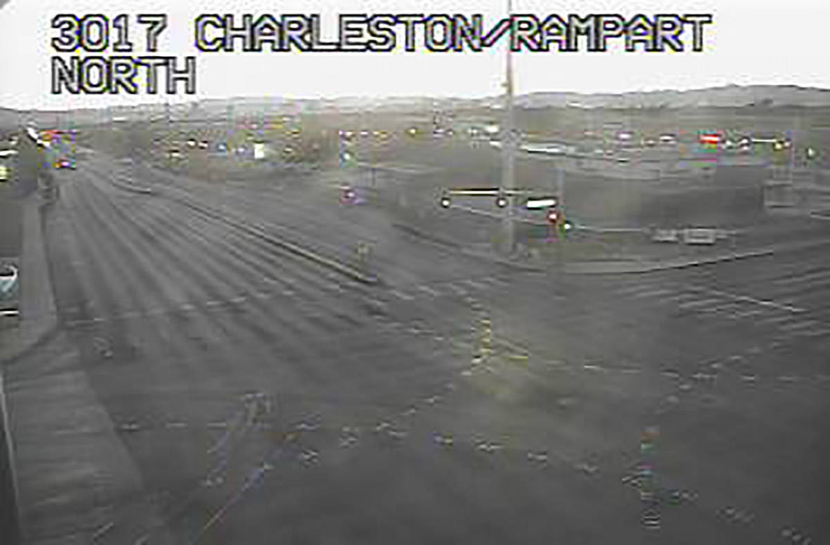 The West Charleston and Rampart/Fort Apache intersection remains closed as of 6:10 a.m. Tuesday ...