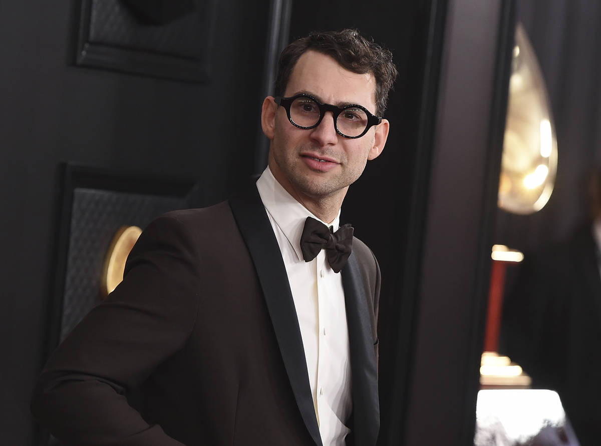 Jack Antonoff arrives at the 62nd annual Grammy Awards on Jan. 26, 2020, in Los Angeles. Antono ...