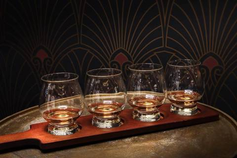 Whiskey flight at The Underground at the Mob Museum. (Mob Museum)