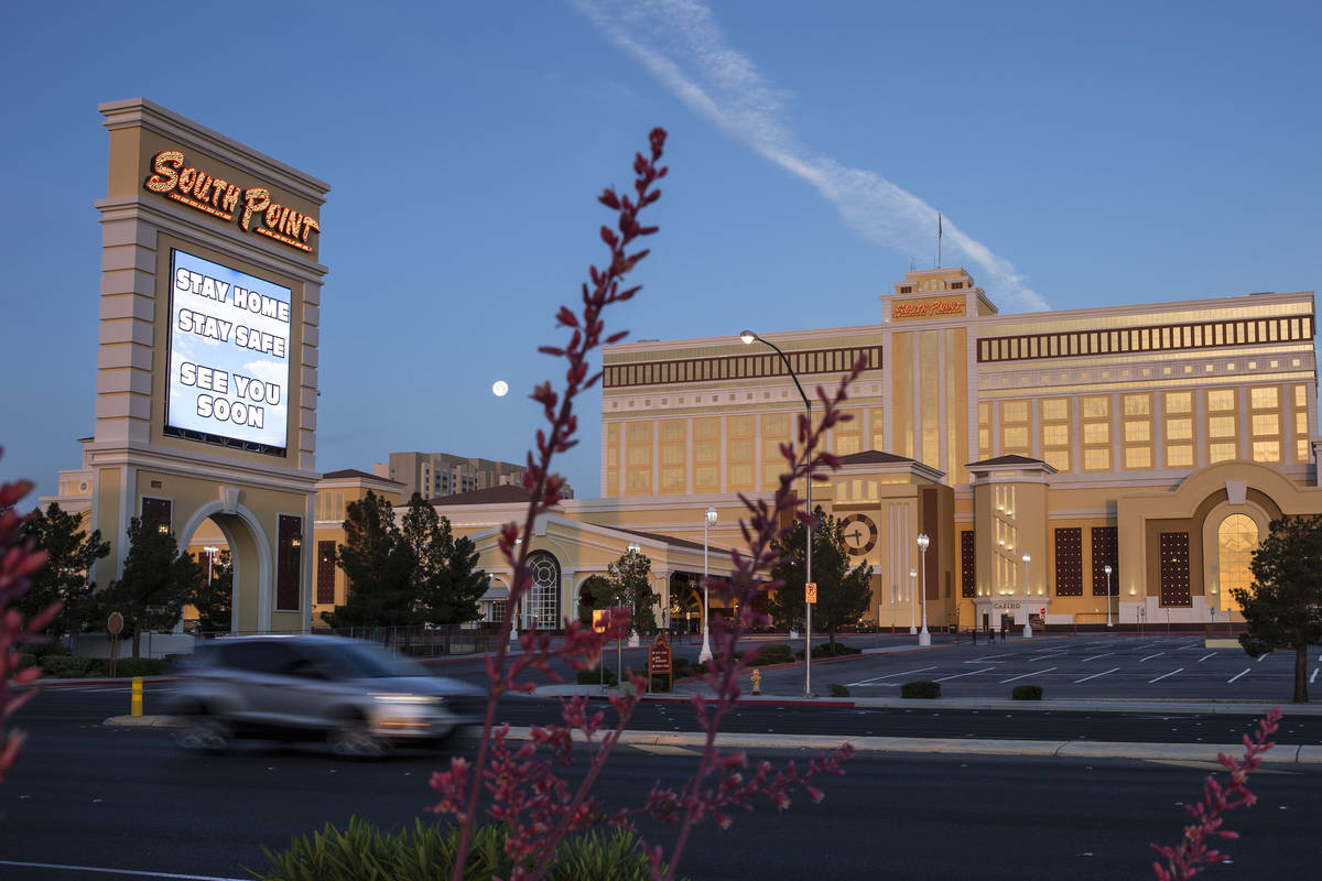South Point hotel-casino photographed on Friday, May 8, 2020, in Las Vegas. (Bizuayehu Tesfaye/ ...