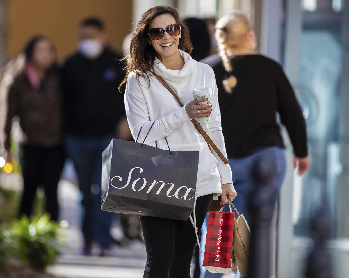 Shoppers search for Black Friday deals at The District on Friday, Nov. 27, 2020, in Henderson. ...