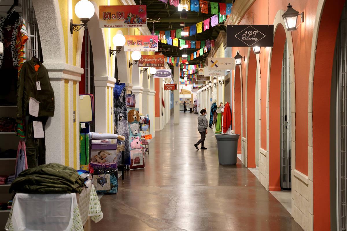 Vendors wait for customers at El Mercado at The Boulevard mall in Las Vegas on Black Friday, No ...