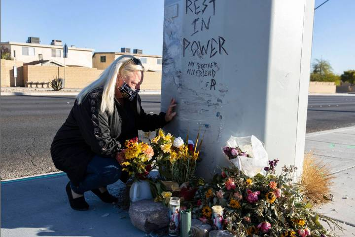 Jennifer Krause, a mother of Brandon Krause, who was killed in a Nov. 10 car crash, visits Krau ...