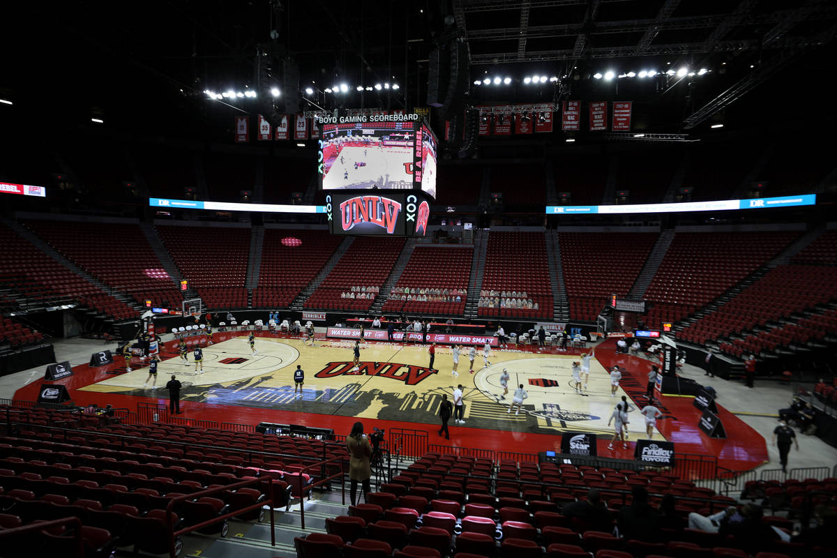 UNLV Lady Rebels warm up with Northern Arizona University for the first half of the season open ...