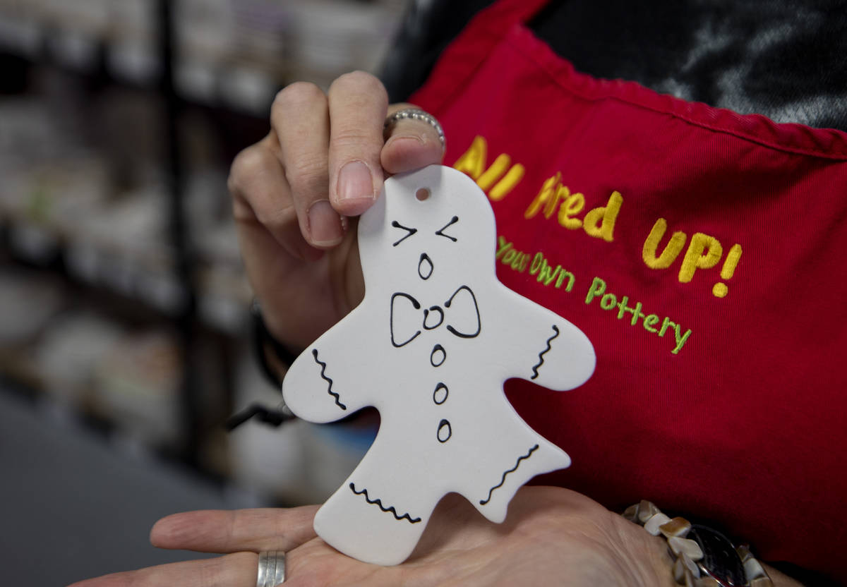 A Ò2020 BitesÓ pottery ornament that is included in the holiday pottery to-go kit is ...