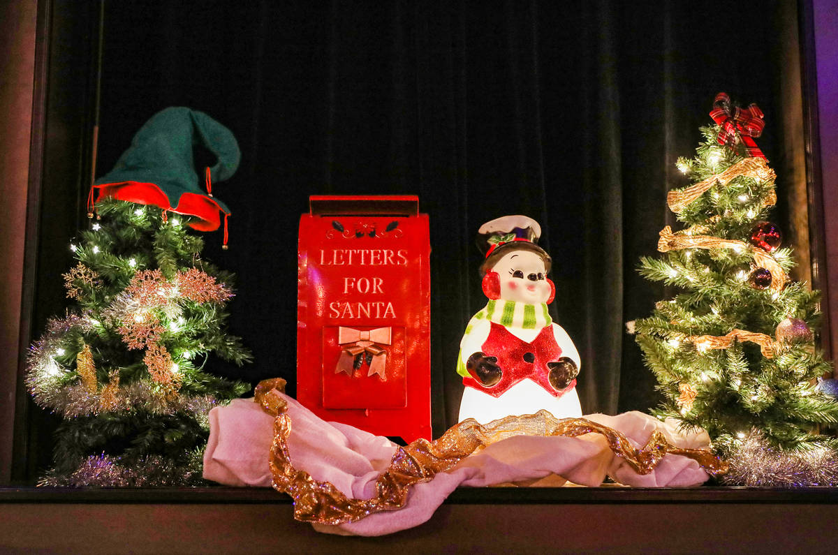 Decorations on display at Commonwealth in Downtown Las Vegas, Wednesday, Nov. 25, 2020. Corner ...