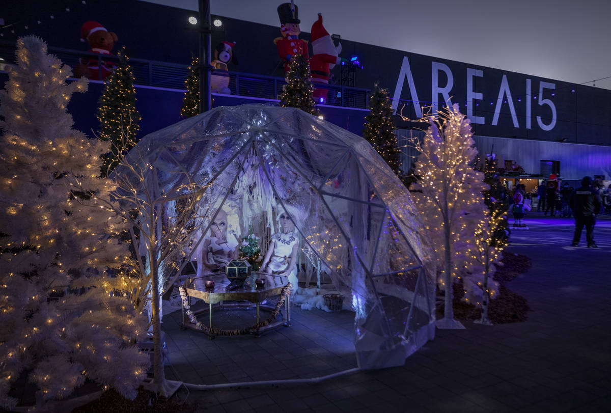 "Area15's ""Wanderland"" holiday experience kicks off on Friday, Nov. 27, 2020, in Las Vegas. (Eli ..."