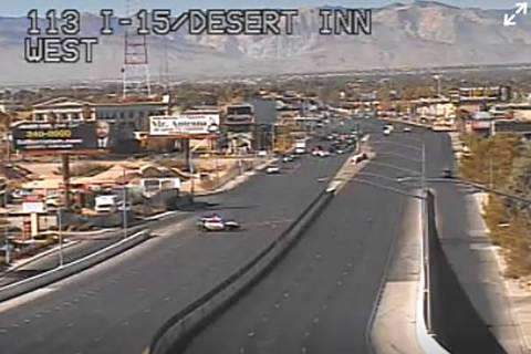 Desert Inn Road between Valley View Boulevard and Paradise Road was closed in all directions on ...