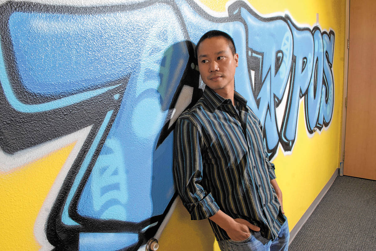 In this Oct. 13, 2008 file photo, Vegas Young Professionals named Zappos.com CEO Tony Hsieh, 34 ...