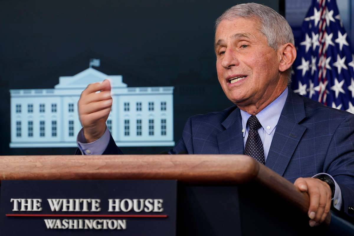 Dr. Anthony Fauci, director of the National Institute for Allergy and Infectious Diseases, spea ...