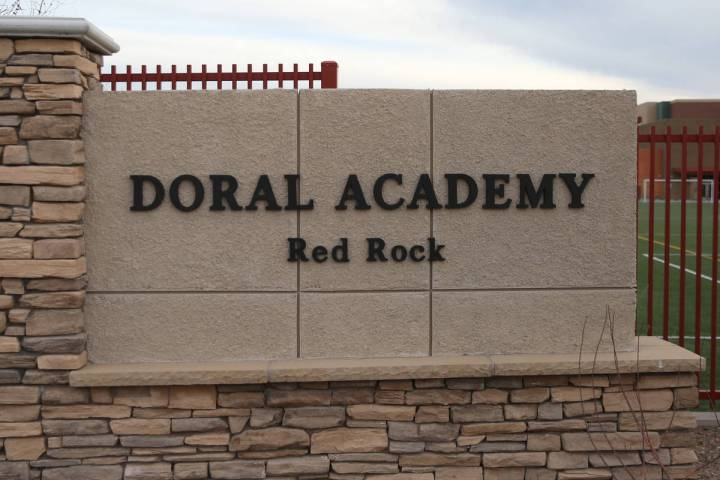 Doral Academy Red Rock Elementary School is seen on Friday, Feb. 28, 2020, in Las Vegas. (Bizua ...