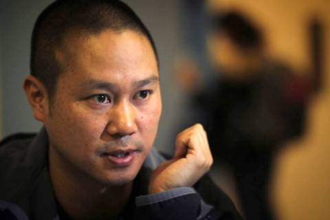 In this 2012, file photo, Tony Hsieh, CEO of online clothing retailer Zappos.com, takes part in ...