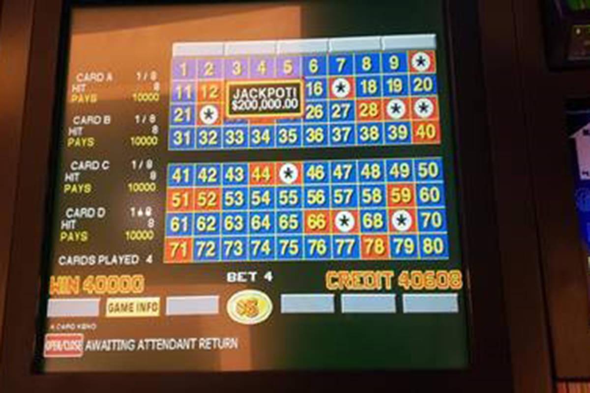 Keno jackpot hits for $200K | Las Vegas Review-Journal