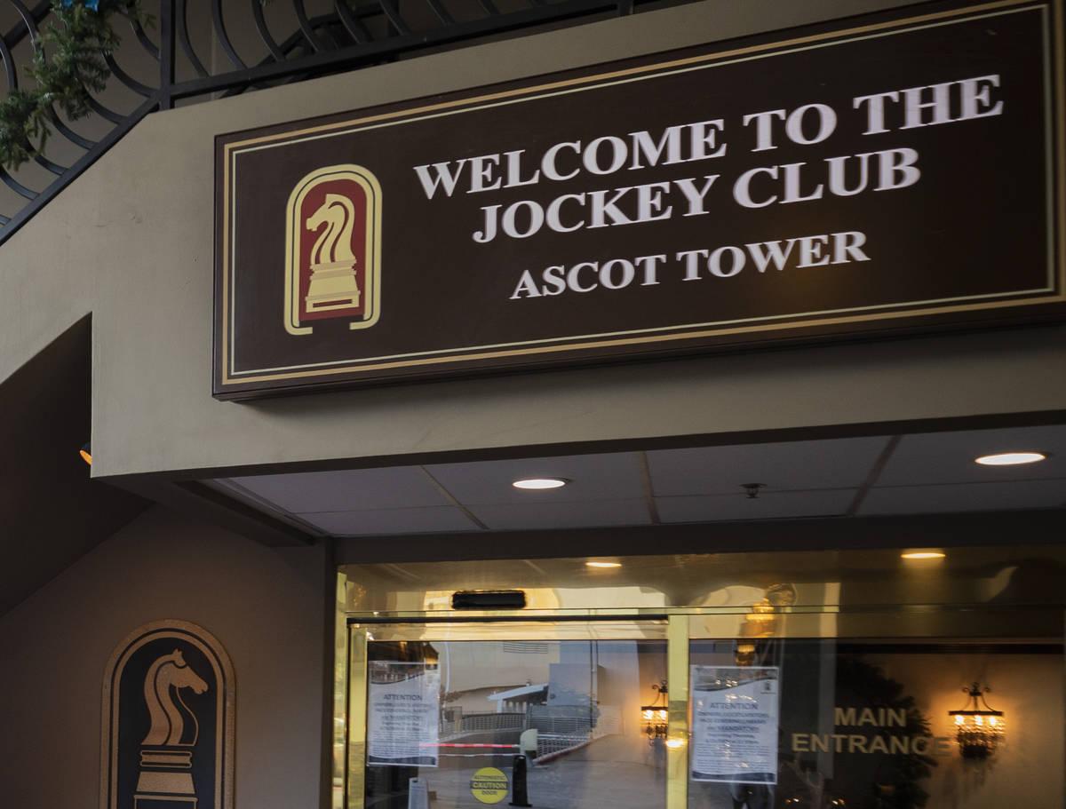 The Jockey Club on the Las Vegas Strip is seen on Thursday, Dec. 10, 2020. (Elizabeth Page Brum ...