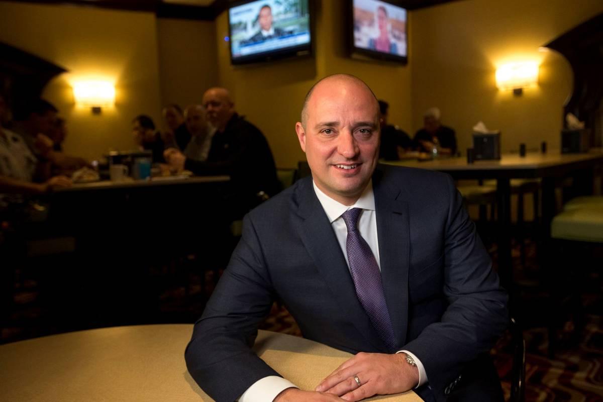 Matt Maddox, the CEO of Wynn Resorts Ltd., is seen in 2018. (Las Vegas Review-Journal)