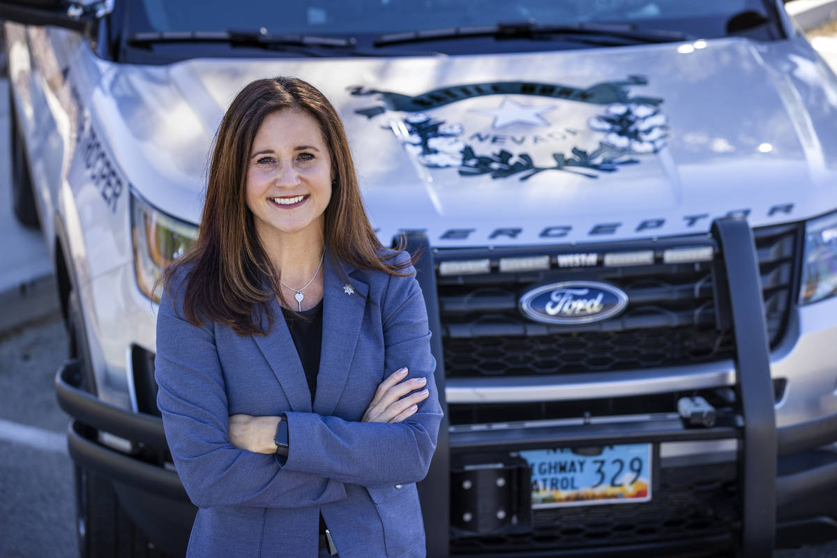 Newly appointed Nevada Highway Col. Anne Carpenter at the agency's Southern Command Traffic Man ...