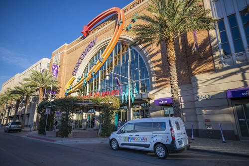 The Las Vegas Philharmonic's Music Van at the Discovery Children's Museum. Among the programs t ...