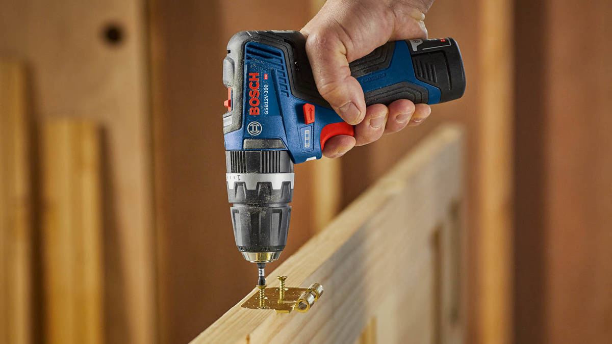 The Bosche hammer drill rotates as it delivers a rapid number of blows for cleaner holes in mas ...