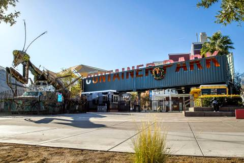 Container Park is one of the DTP Companies-owned properties on Tuesday, Dec. 1, 2020, in Las Ve ...