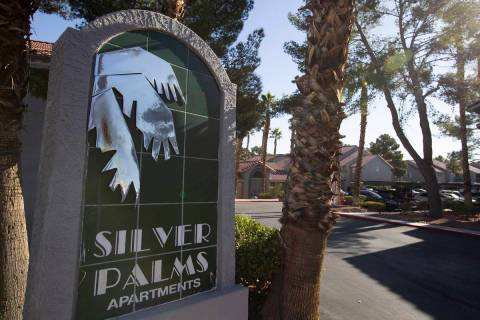 The apartment complex where a newborn baby was found abandoned on Sunday. (Ellen Schmidt/Las Ve ...