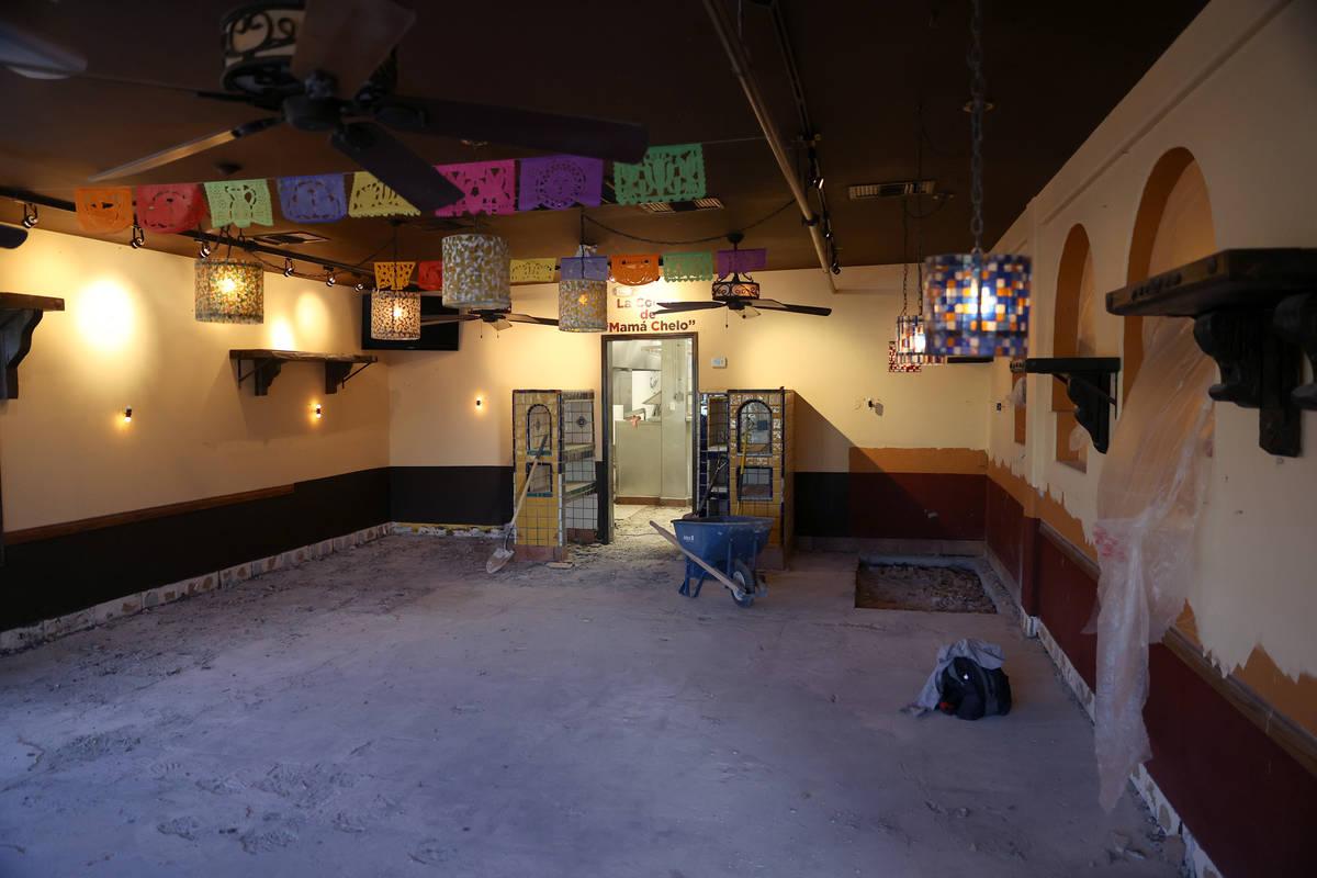 The dining room at Lindo Michoacán, 2655 E Desert Inn Road, in Las Vegas on Tuesday, Dec. ...