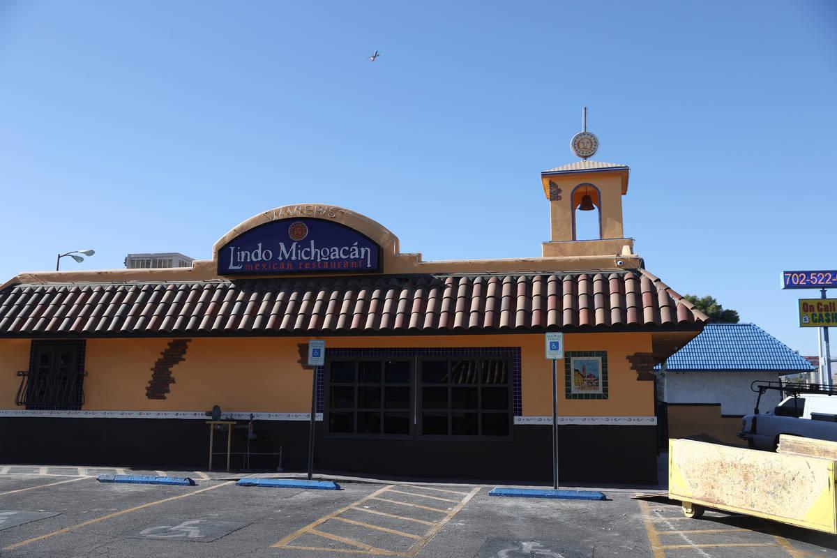 Lindo Michoacán, 2655 E Desert Inn Road, in Las Vegas on Tuesday, Dec. 1, 2020. (Erik Verd ...