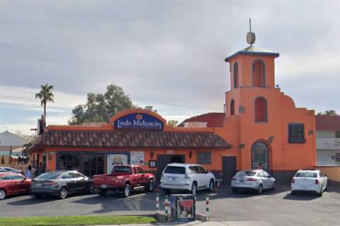 Lindo Michoacan's location at 2655 E. Desert Inn Road had to close temporarily to repair a sink ...