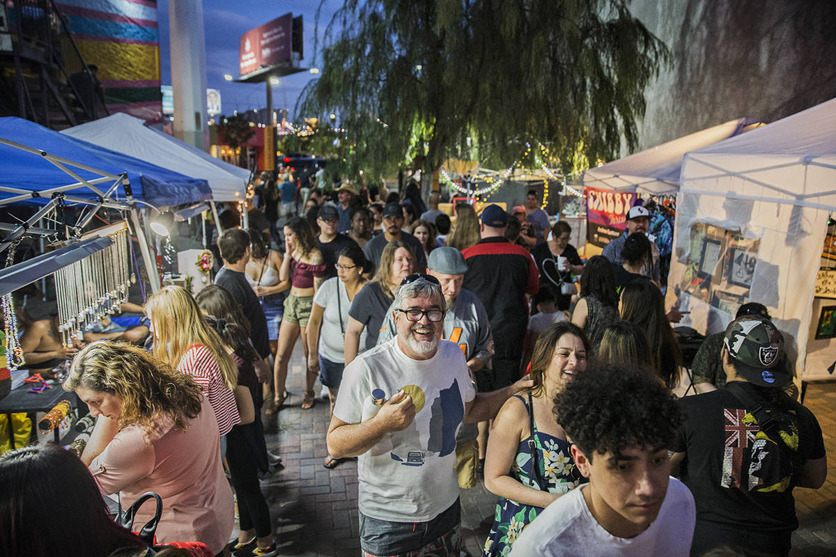 """The streets in the Arts District are packed during First Friday's """"Beat Street"""" event in this J ..."""